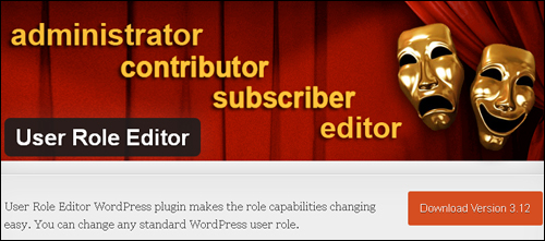 User Role Editor - WordPress Plugin