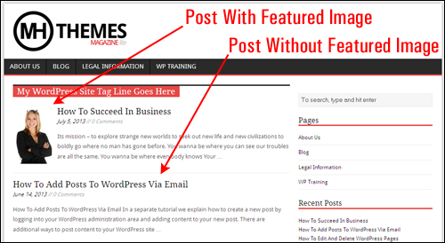 Using Featured Images In WordPress Posts