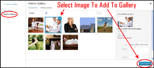 Using The WordPress Image Gallery
