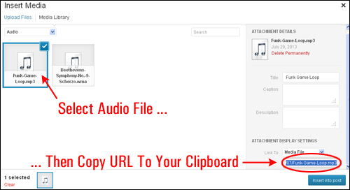 How To Insert Audio Files Into Your WordPress Posts And Pages