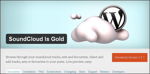 WordPress Plugin - SoundCloud Is Gold