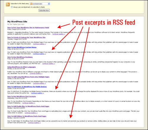 How To Use WordPress Post Excerpts And Post Previews
